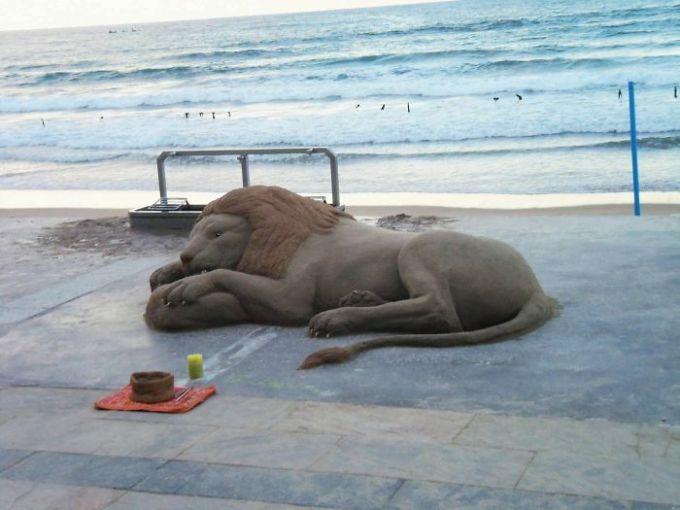 Những tác phẩm điêu khắc từ cát có thể bạnnhìnnhầm - 6