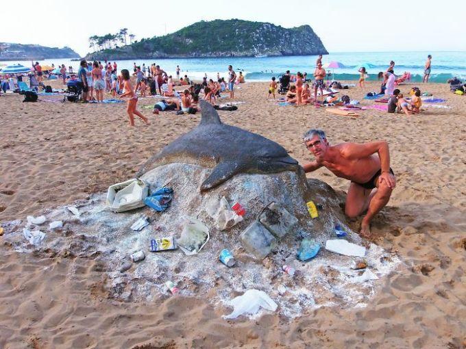 Những tác phẩm điêu khắc từ cát có thể bạnnhìnnhầm - 36