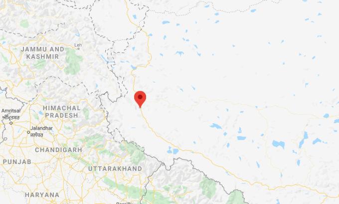 Vị trí sân bay Ngari Gunsa. Đồ họa: Google Maps.