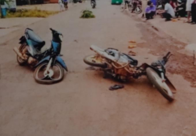 Hiện trường vụ tai nạn giao thông ngày 15/1/2017. Ảnh: Hồ sơ vụ án.