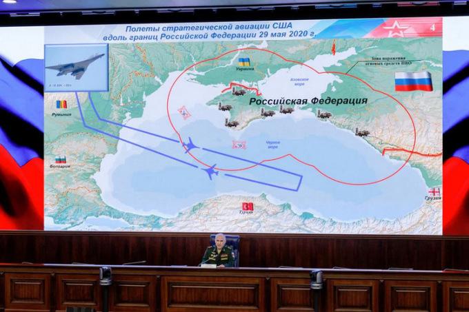 Oanh tạc cơ Mỹ diễn tập phóng tên lửa gần Nga