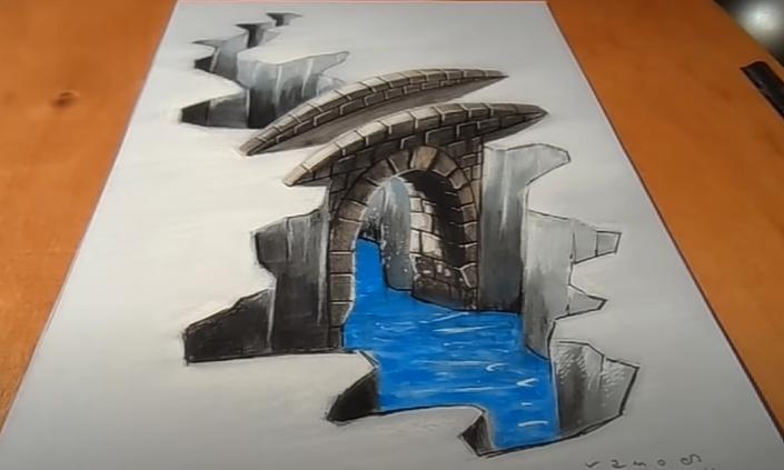 Vẽ cây cầu 3D