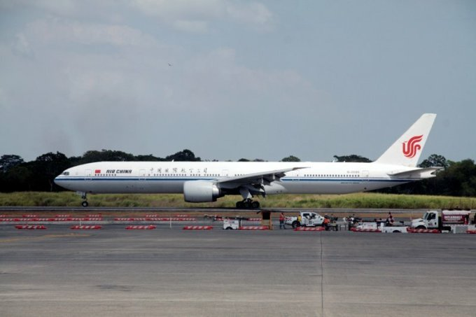 Máy bay Air China ởPanama năm 2018. Ảnh: Reuters.