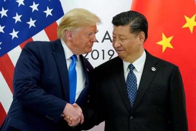 Tổng thống Mỹ Trump, trái và Chủ tịch Trung Quốc Tập Cận Bình tại hội nghị G20 ở Nhật Bản năm 2019. Ảnh: Reuters.