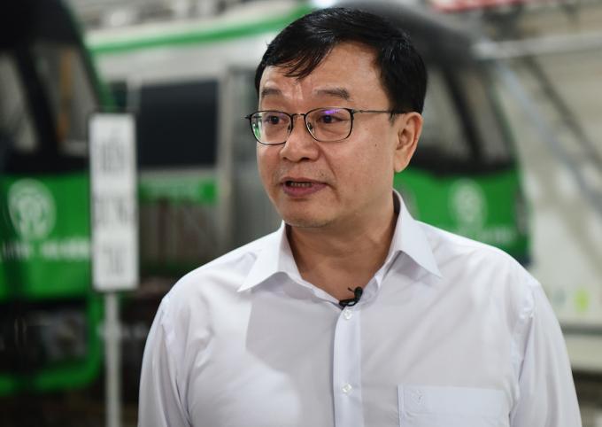 Ông Đường Hồng, Giám đốc dự án thuộc Tổng thầu Trung Quốc. Ảnh: Giang Huy.
