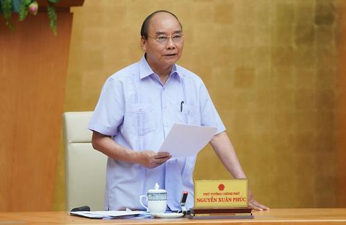 Thủ tướng Nguyễn Xuân Phúc chủ trì họp Thường trực Chính phủ, sáng 9/6. Ảnh: VGP