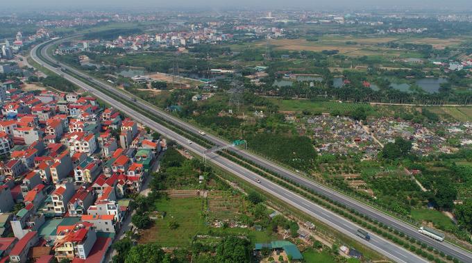 Cao tốc Hà Nội - Thái Nguyên khánh thành năm 2014, dài 63 km, kết nối Hà Nội, Bắc Ninh, Thái Nguyên. Ảnh: Giang Huy
