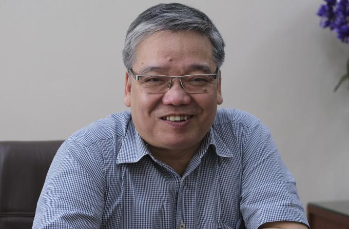 Ông Trương Tiến Tùng, Hiệu trưởng Đại học Mở Hà Nội. Ảnh: Dương Tâm.