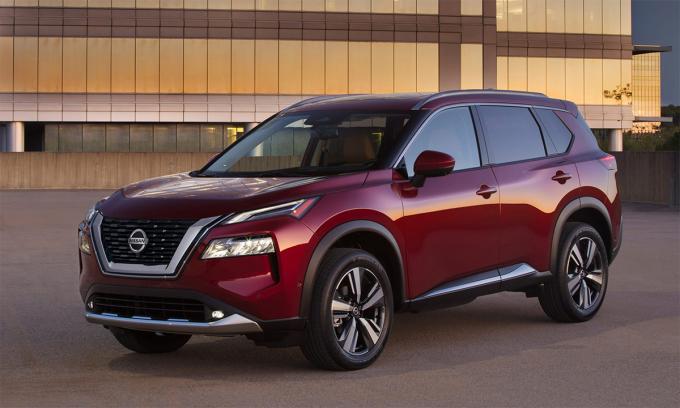 Rogue 2021 phiên bản Platinum cao cấp nhất. Ảnh:Nissan