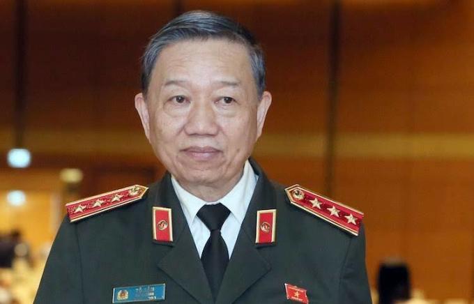 Bộ trưởng Công an Tô Lâm tại nghị trường. Ảnh: Hoàng Phong