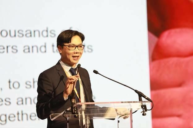 Ông Nguyễn Đức Khương - Chủ tịch AVSE Global trong một sự kiện.