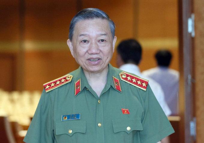 Bộ trưởng Công an Tô Lâm. Ảnh: Hoàng Phong.