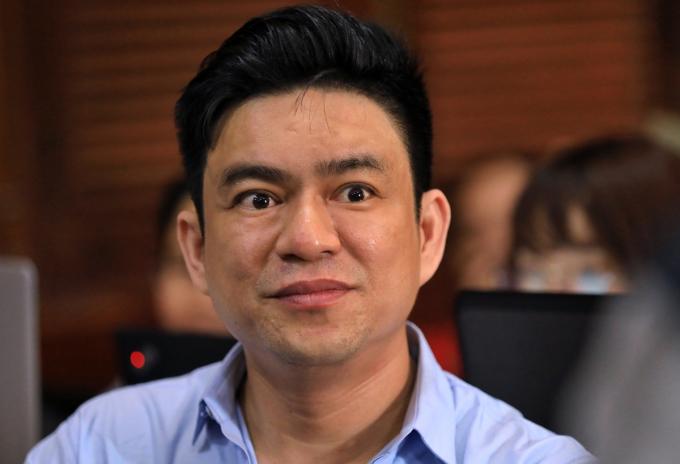 Bác sĩ Chiêm Quốc Thái trong lần ra tòa hồi tháng 6/2019. Ảnh: Hữu Khoa.