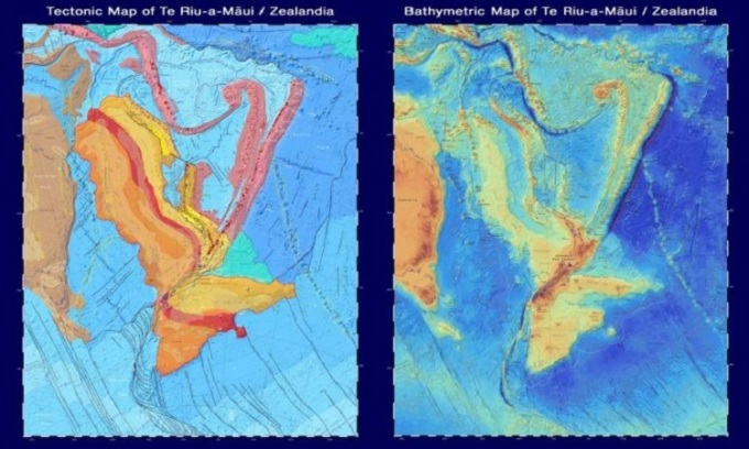 The continent of 5 million km2 sinks under the Pacific Ocean