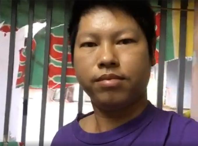 Trịnh Bá Phương, 35 tuổi, livestream trên Facebook cá nhân trong ngày 23/6. Ảnh chụp từ clip