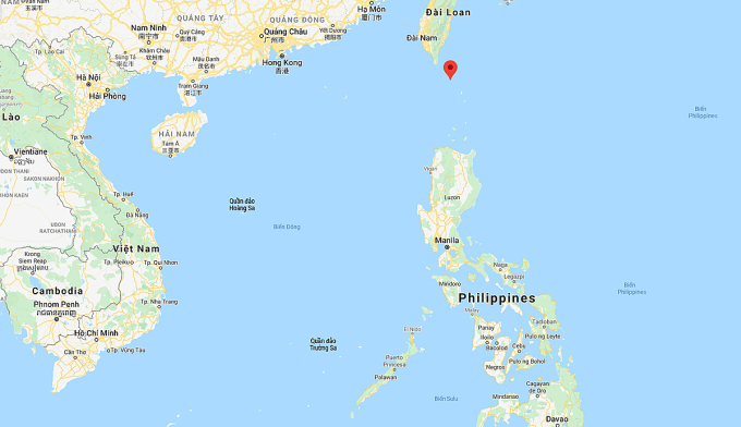 Eo biển Ba Sĩ (đánh dấu đỏ). Đồ họa: Google.