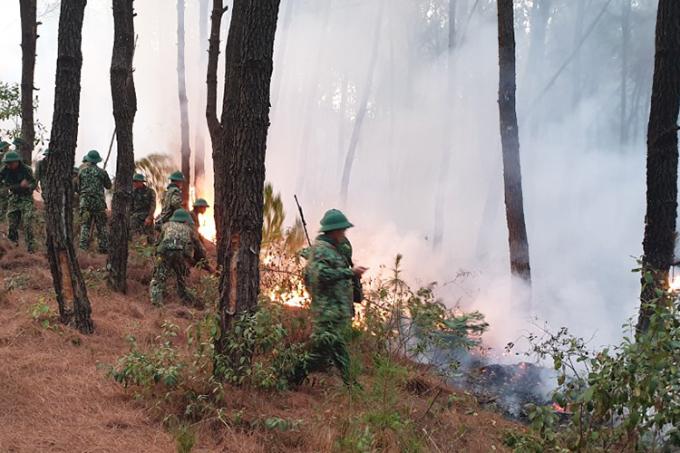 Dập tắt vụ cháy hàng trăm ha rừng