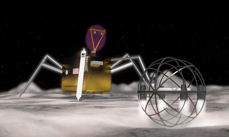 Robot nhảy bằng hơi nước thám hiểm mặt trăng