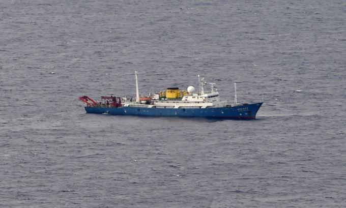 Tàu Hải dương 4 hoạt động trên Biển Đông hôm 1/7. Ảnh: US Navy.
