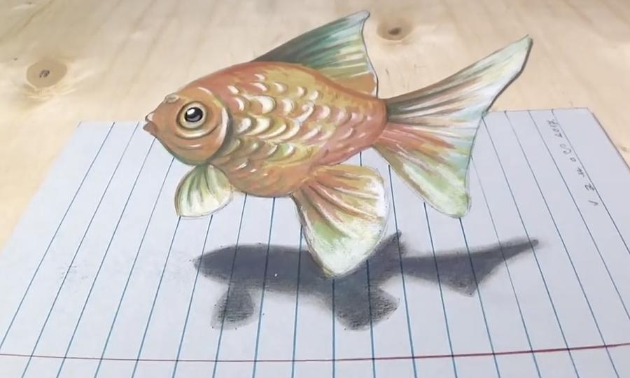 Vẽ cá vàng giống như thật