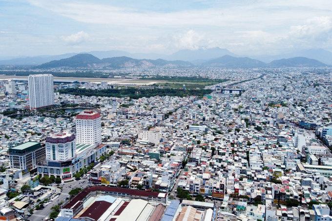 Một góc đô thị Đà Nẵng thuộc quận Hải Châu và Thanh Khê. Ảnh: Thanh Hiếu.