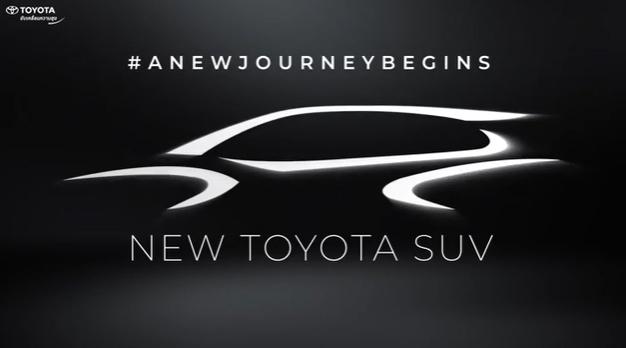 Thông tin về chiếc SUV mới trong video ngắn gọn của Toyota.