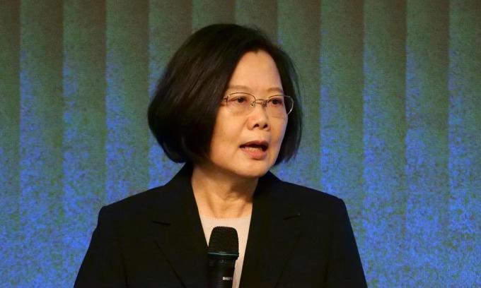 Lãnh đạo Đài Loan Thái Anh Văn phát biểu tại một sự kiện ở Đài Bắc hồi tháng 11/2019. Ảnh: Reuters.