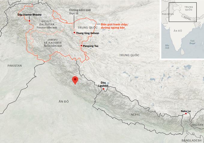 Ấn Độ đưa trực thăng, vận tải cơ lên gần biên giới