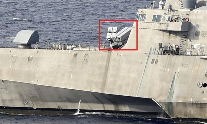 Tàu chiến Mỹ bị nghi thiếu tên lửa