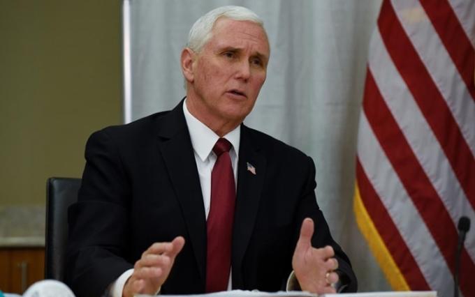 Phó Tổng thống Mỹ Mike Pence tại Minnesota hôm 5/3. Ảnh: Reuters.