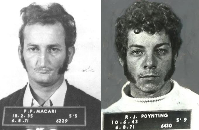 Peter Macari (trái) và đồng phạm Raymond Poynting. Ảnh: ABC News.