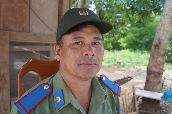 Ông Chu Văn Bàn, một trong số ba người có mặt tại hiện trường đầu tiên. Ảnh: Trần Hóa.