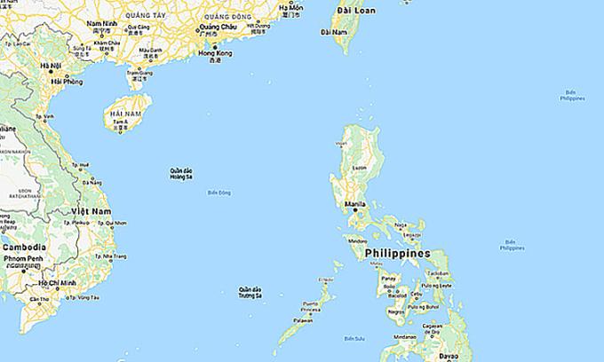 Khu vực Biển Đông. Đồ họa: Google.