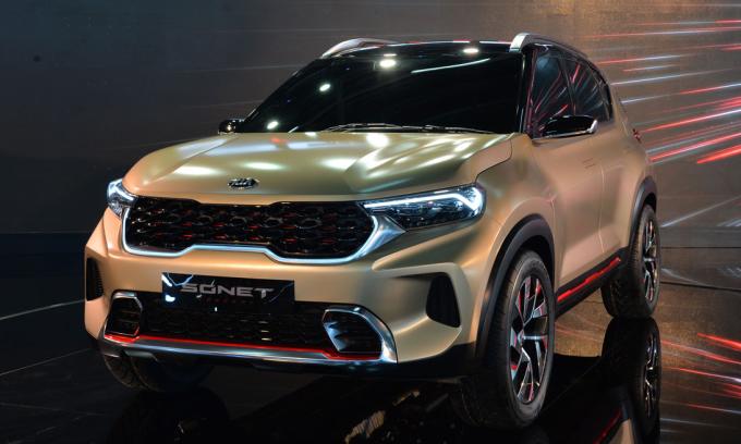 Kia Sonet concept khi ra mắt hồi tháng 2. Ảnh: Top Gear