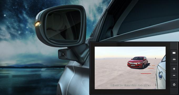 Hệ thống LaneWatch trên bản VX với camera gắn ở gương chiếu hậu bên lái phụ. Ảnh: Honda