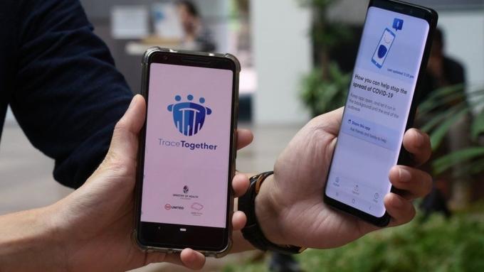 Một số công ty đã bắt buộc tất cả nhân viên phải cài đặt ứng dụng TraceTogether trên điện thoại di động cá nhân. Ảnh: TraceTogether.