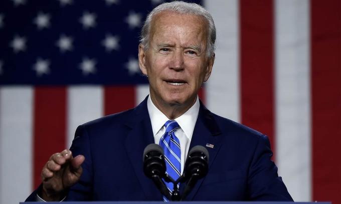 Ứng viên tổng thống đảng Dân chủ Joe Biden tại Delaware ngày 14/7. Ảnh: Reuters.