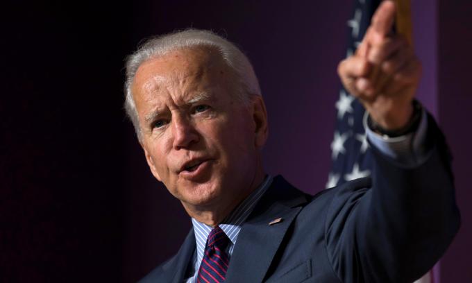 Cựu phó tổng thống Joe Biden tại sự kiện ở Columbia, bang Nam Carolina, hồi tháng 10/2019. Ảnh: Reuters.