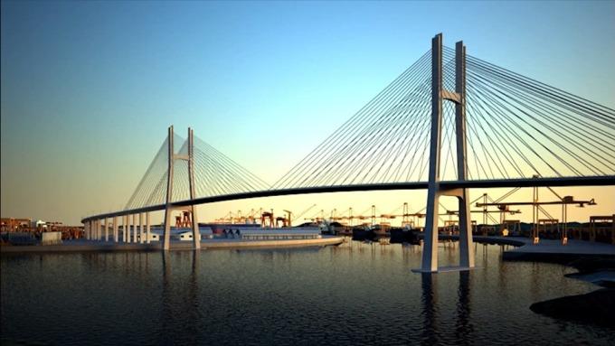 Thiết kế cầu Phước An. Ảnh: Ban quản lý dự án giao thông khu vực cảng Cái Mép - Thị Vải