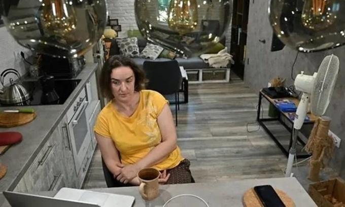 Chuyên gia công nghệ thông tin người Ukraine  Natalia Murashko, 39 tuổi. Ảnh: AFP.
