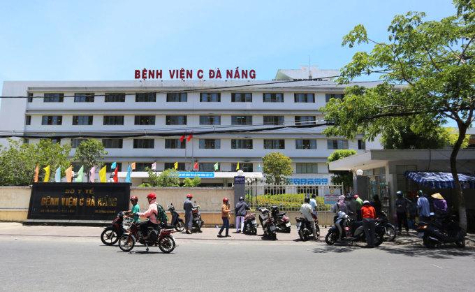 Bệnh viện C Đà Nẵng bắt đầu phong tỏa sáng 24/7. Ảnh: Đắc Thành.