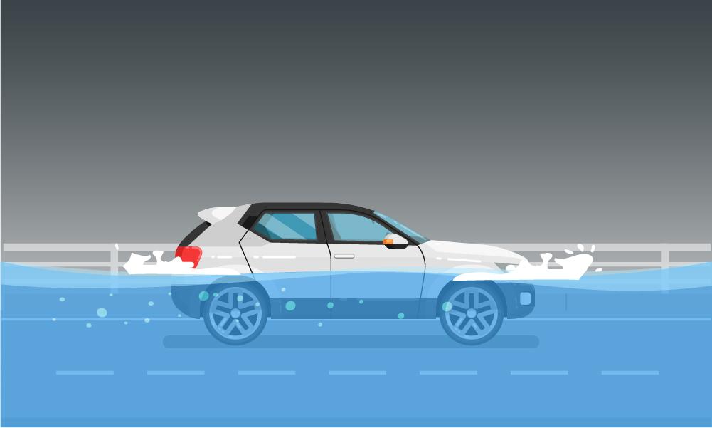 Những việc cần làm khi xe bị ngập nước