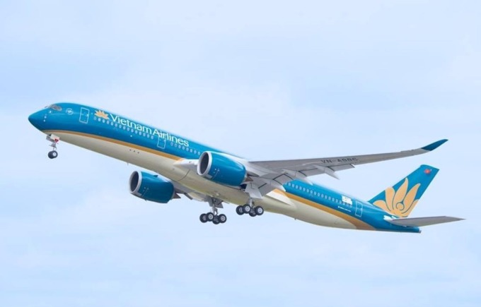 Chuyến bay VN05 sử dụng máy bay A350.. Ảnh: VNA.