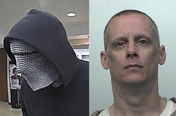 Anthony Hathaway, kẻ cướp bận bịu nhất nước Mỹ, bị phạt 9 năm tù vào năm 2016 sau khi thực hiện 30 vụ cướp, trung bình mỗi vụ chỉ cướp được 2.450 USD. Ảnh: FBI.