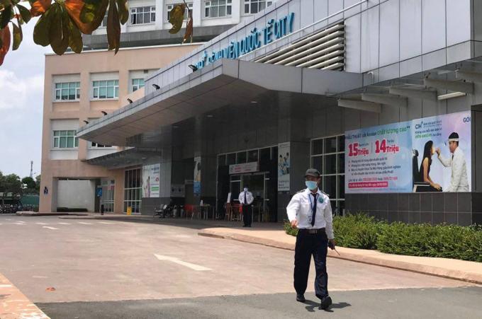 Bệnh viện Quốc tế City ngừng tiếp nhận bệnh nhân, sáng 29/7. Ảnh: Đinh Vui.