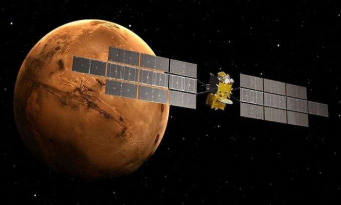 Tàu Earth Return Orbiter sẽ nặng khoảng 6 tấn và có sải cánh 39 m. Ảnh: Yahoo.