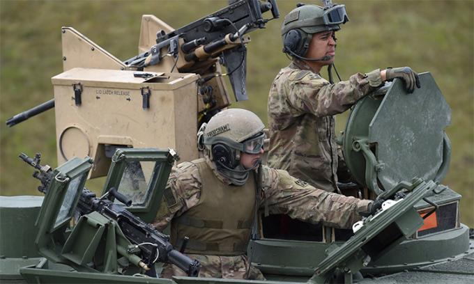 Binh sĩ Mỹ tập trận tại Grafenwoehr, Đức, tháng 5/2017. Ảnh: AFP.