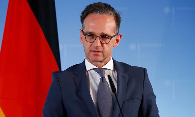 Ngoại trưởng Đức Heiko Mass trong cuộc họp báo tại Berlin, Đức, ngày 2/6. Ảnh: Reuters.
