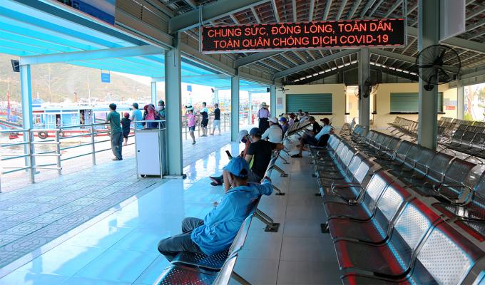 Cảng du lịch mới ở TP Nha Trang, hôm 2/8 vắng khách hơn so với mọi khi. Ảnh: Xuân Ngọc.