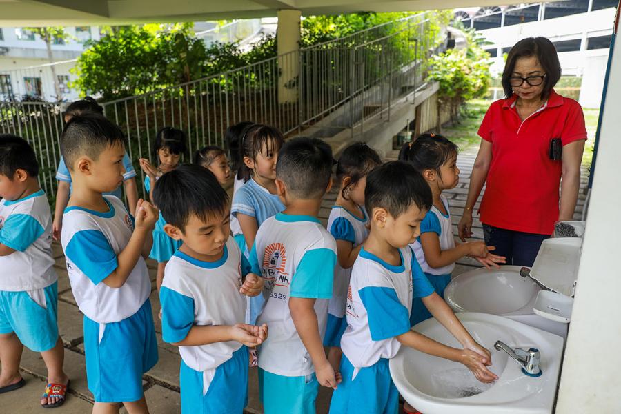 Đồng Nai cho trẻ mầm non đi học lại
